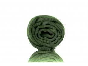 Náplet žebro khaki zelená