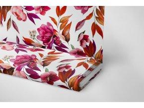 Softshell bordo květ