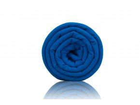 Teplákovina počesaná modrá