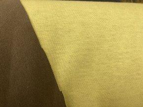Interlock oboustranný hnědá/žlutá