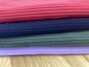 Fleece žebrovaný fialový