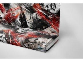 Úplet polyester abstrakce/tvář