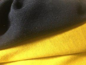 Interlock oboustranný žlutá/tmavě modrá