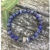 Meditace a hluboký klid - náramek z lapis lazuli a bodhi