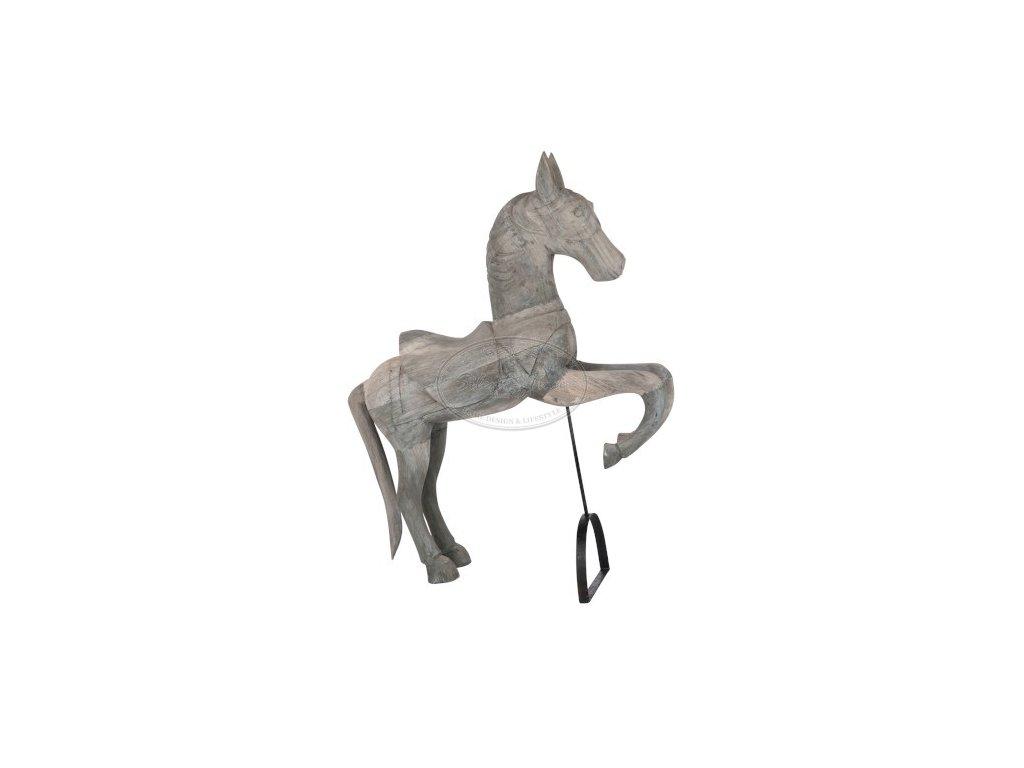 Dřevěný kůň GREY