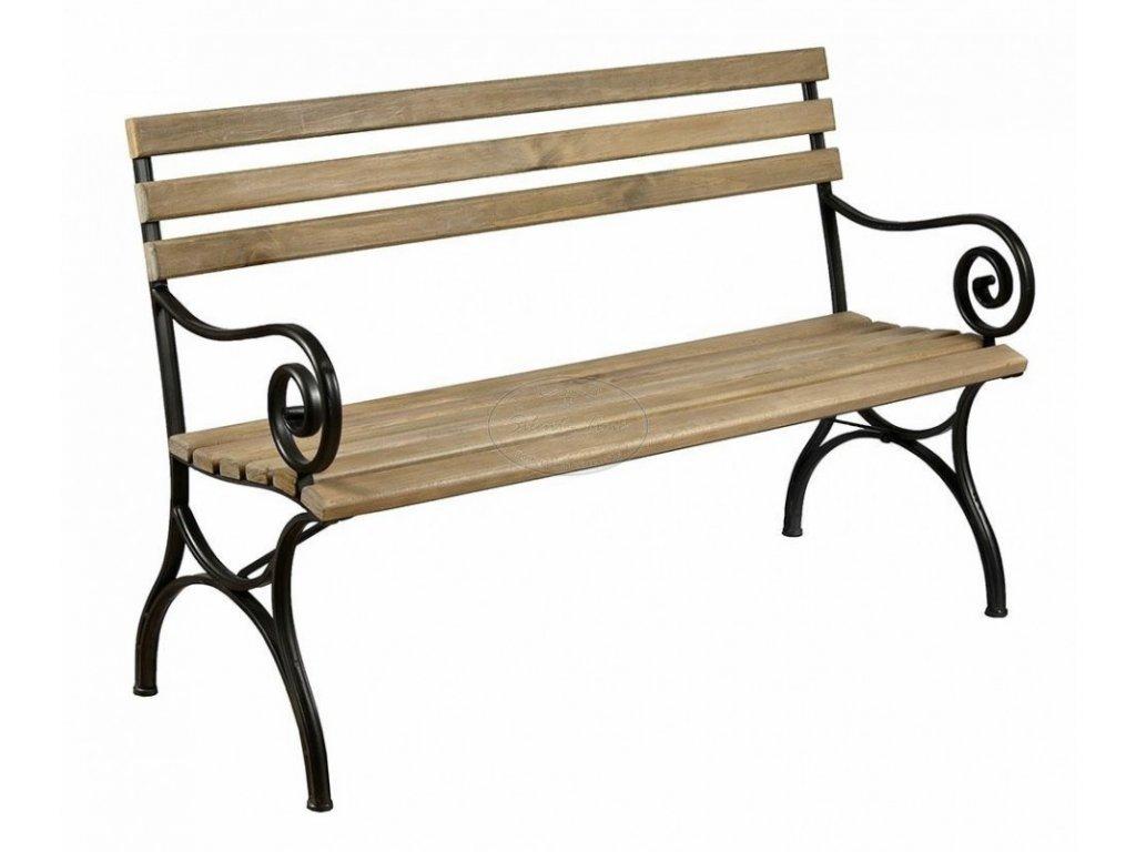 Dřevěná klasická lavička LUNA