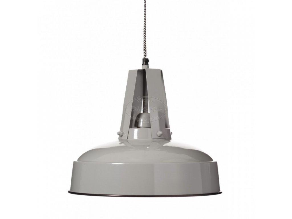 Lustr kovový FLUX šedý