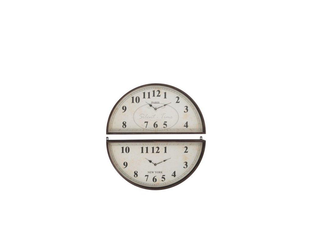 Kovové hodiny DUO ROUND