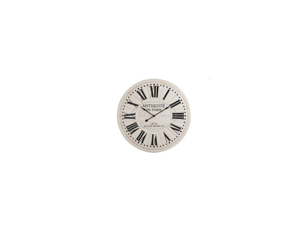 Kovové hodiny WHITE-ANTIQUE DP
