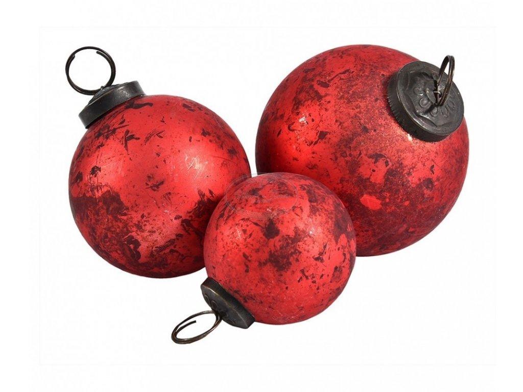 Ozdoba vánoční koule červená