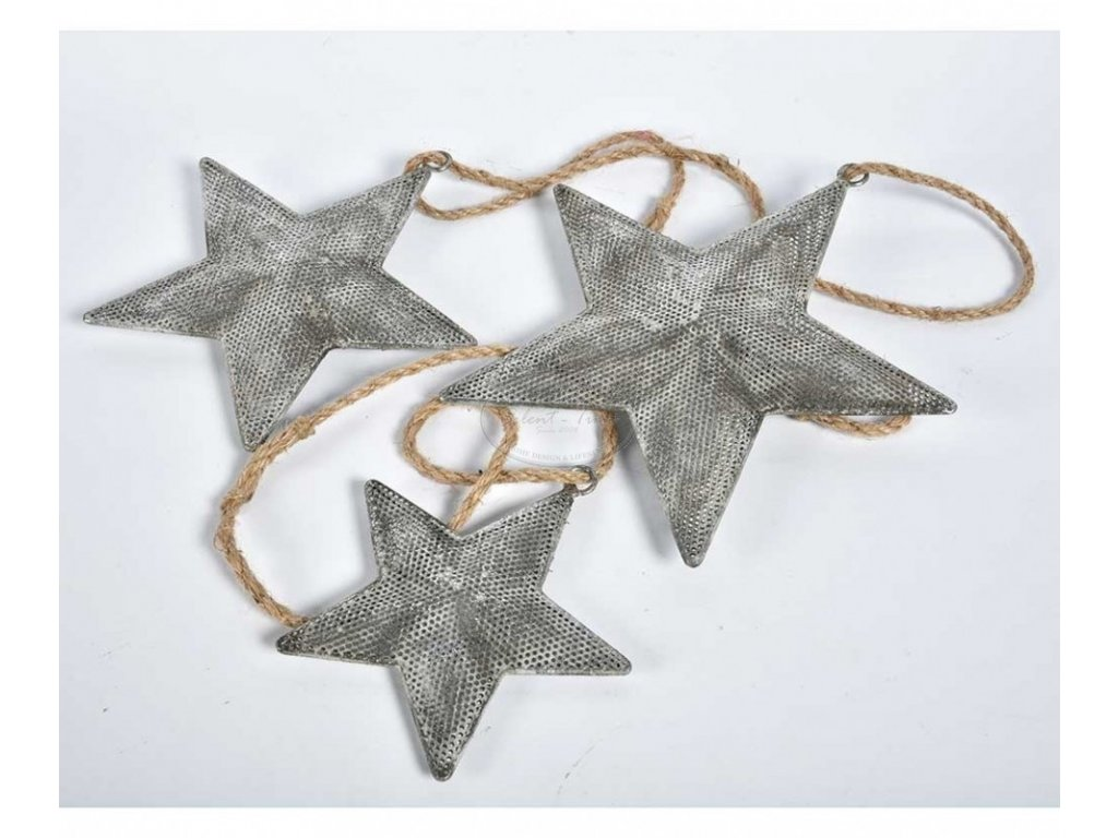 Ozdoba vánoční hvězda starostříbrná