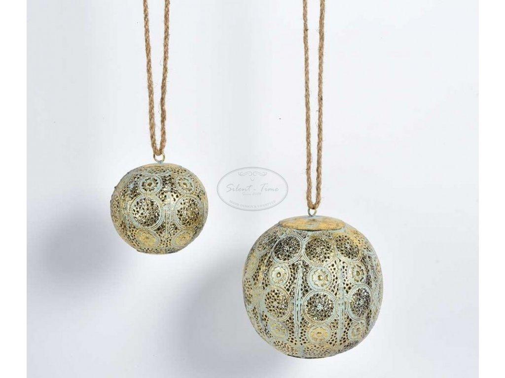 Ozdoba vánoční koule stříbrozlatá