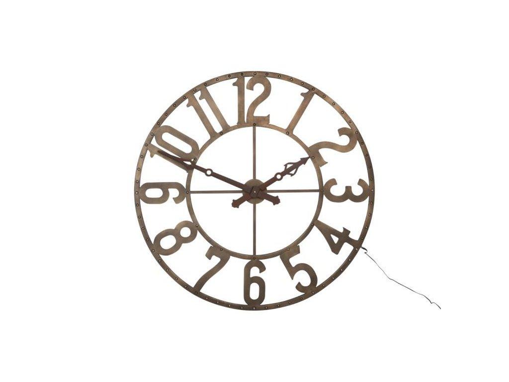 Kovové hodiny LED LIGHT