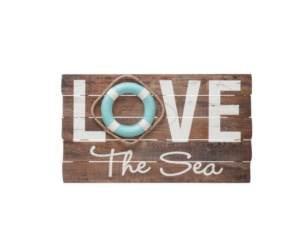 Obraz dřevěný panel LOVE SEA