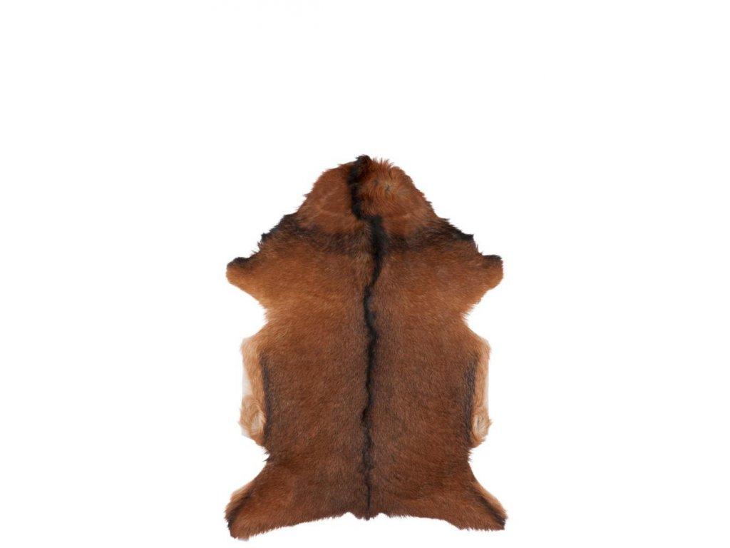 Pravá kozí kůže podnožka hnědo-bílá
