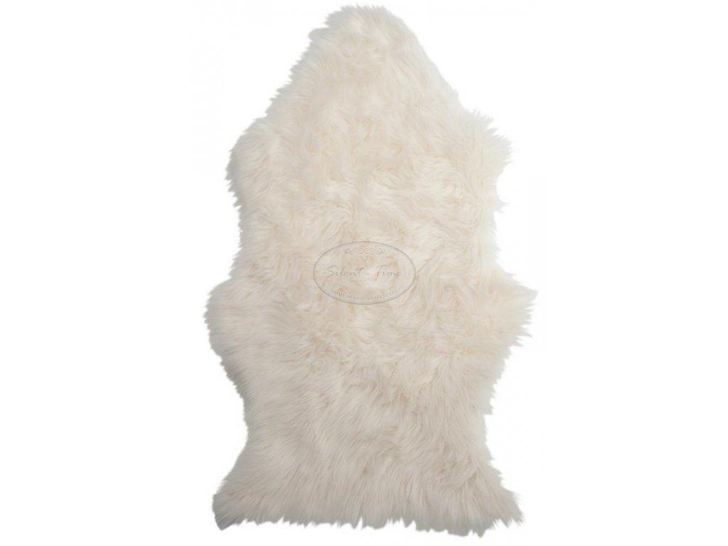 Umělá kožešina podnožka bílá