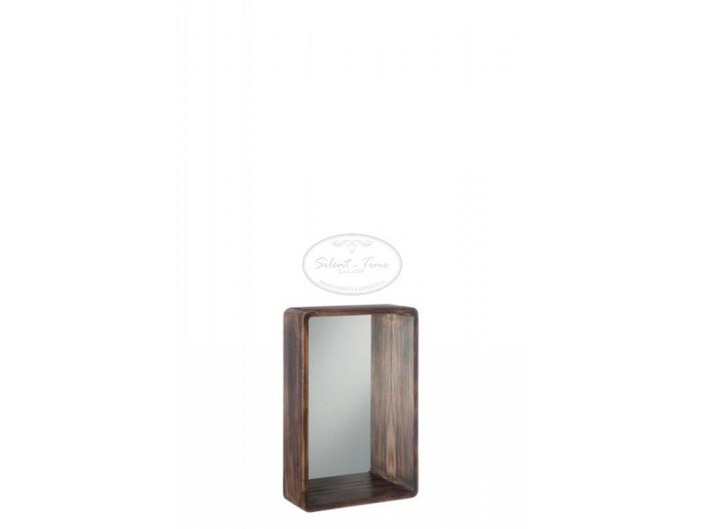 Zrcadlo  s širokým rámem WOOD DARK M