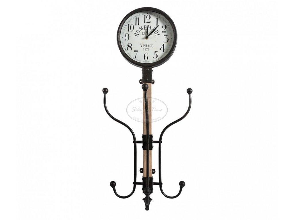 Kovové hodiny s věšákem NUZZO