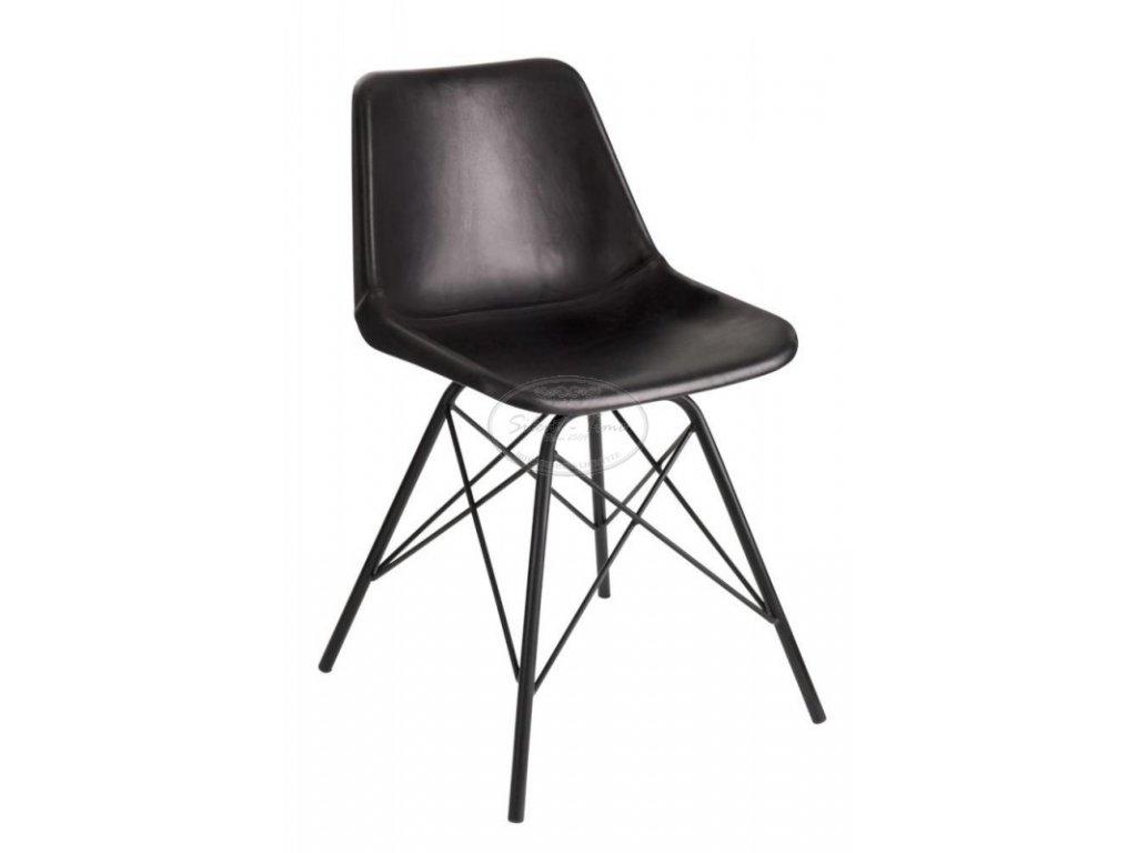 Kožená židle POLO BLACK 2