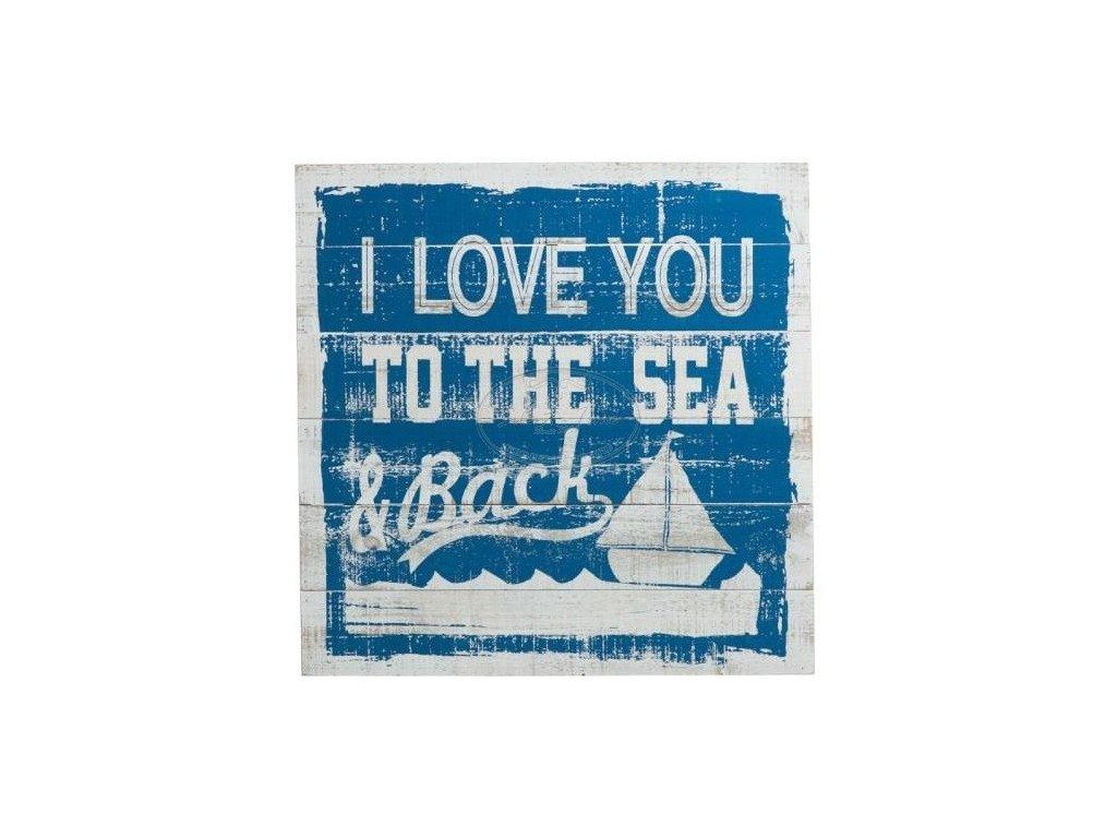 Obraz dřevěný panel  I LOVE TO THE SEA
