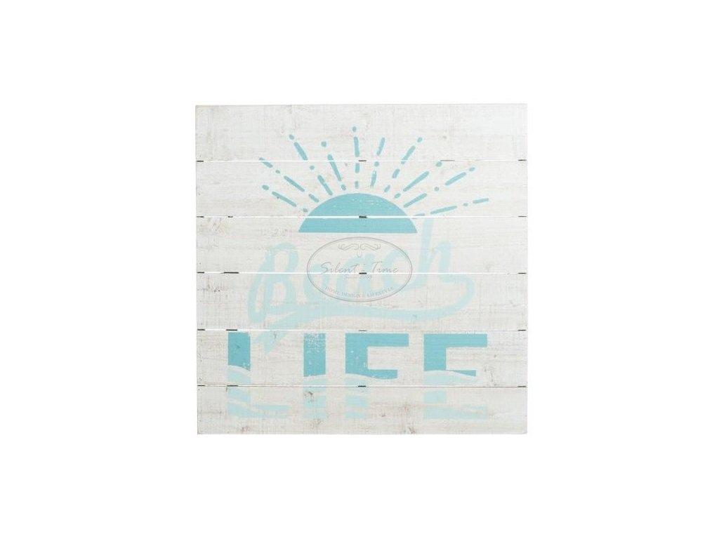 Obraz dřevěný panel  BEACH LOVE