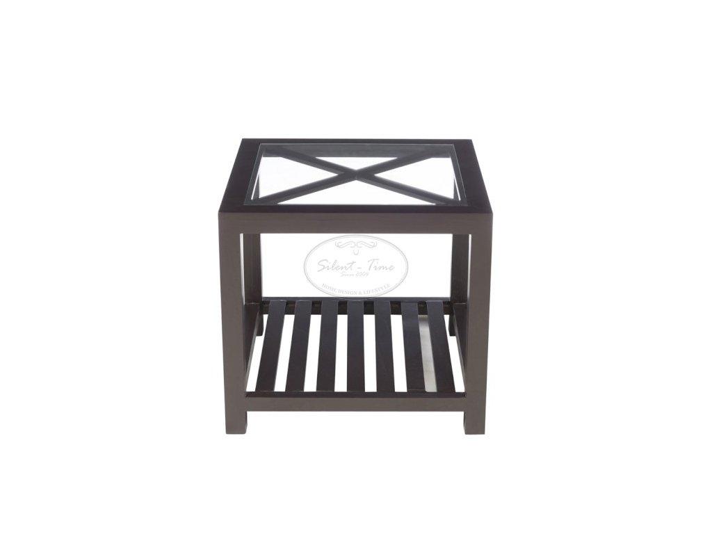 Odkládací stolek CROSS BLACK