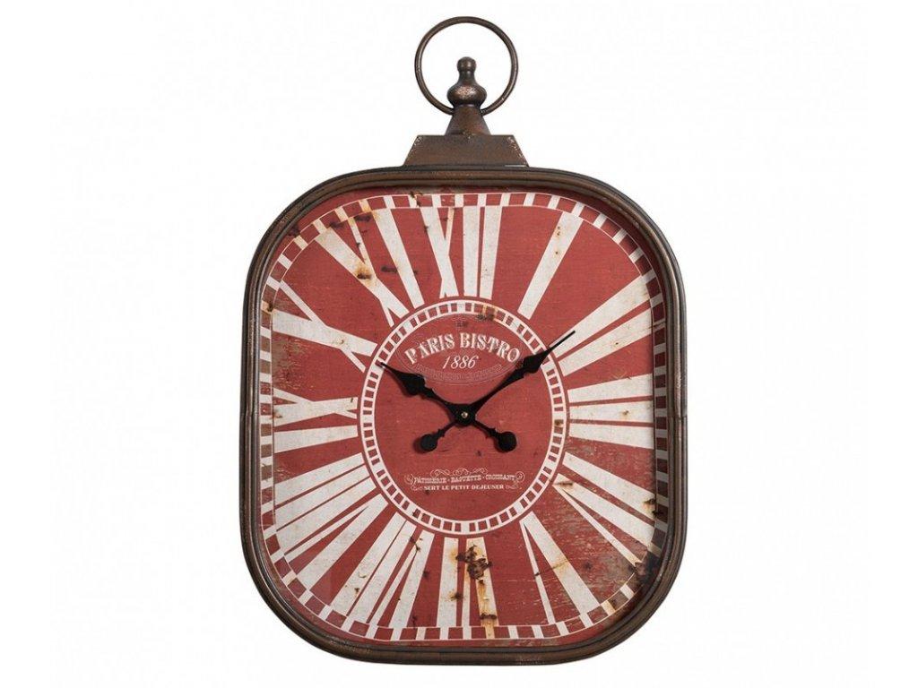 Kovové hodiny BISTRO Red