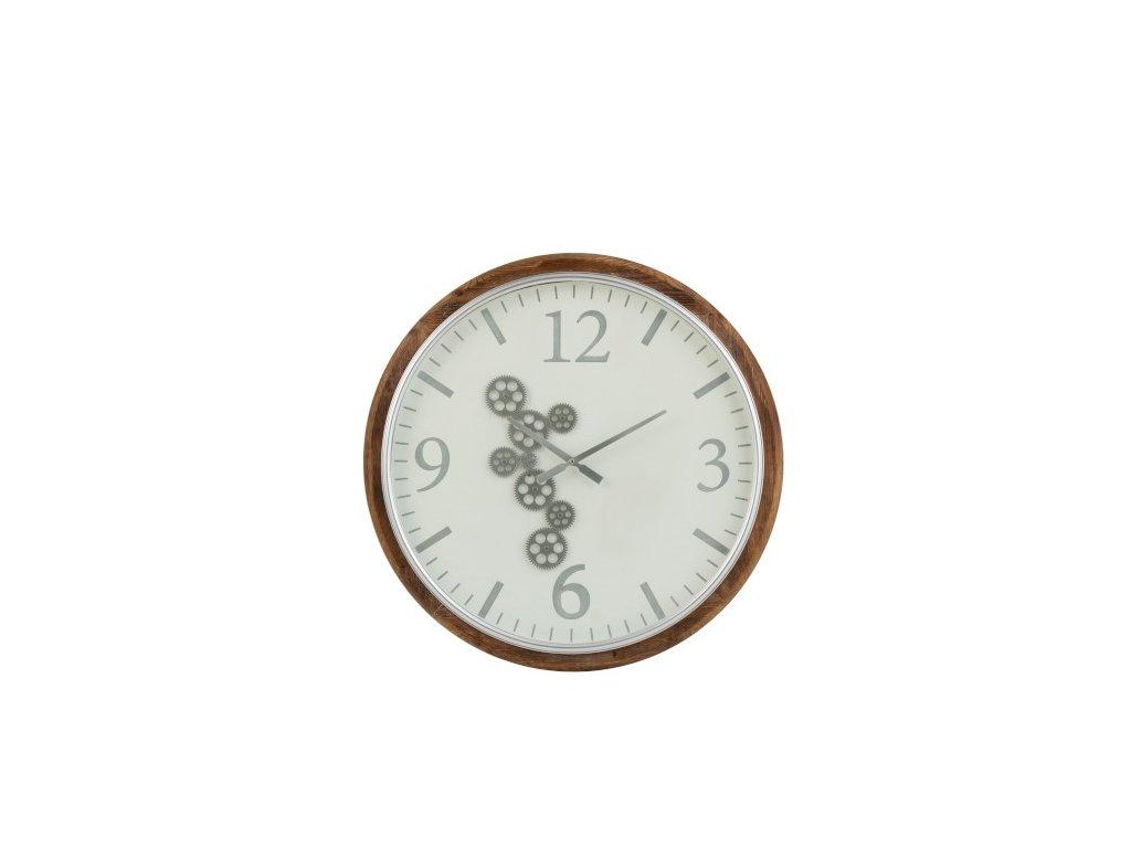 Dřevěné hodiny s ozubenými kolečky L