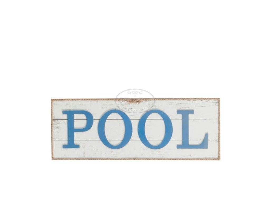 Dřevěná cedule Pool