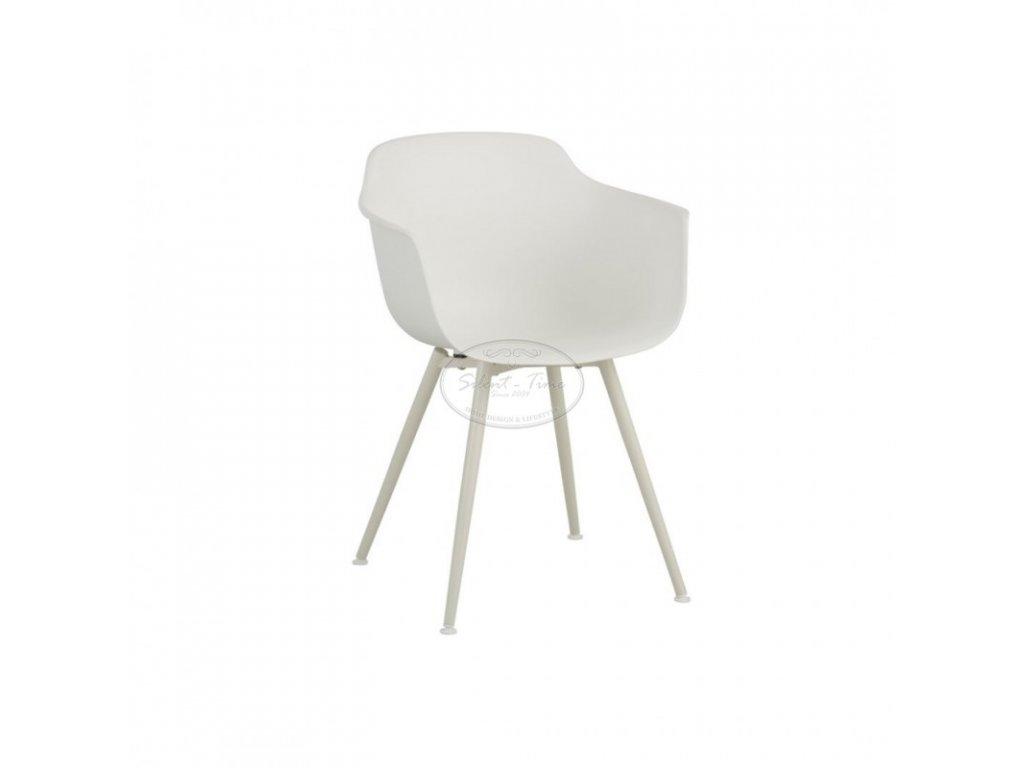 Židle RETRO WOOD PLASTIC WHITE
