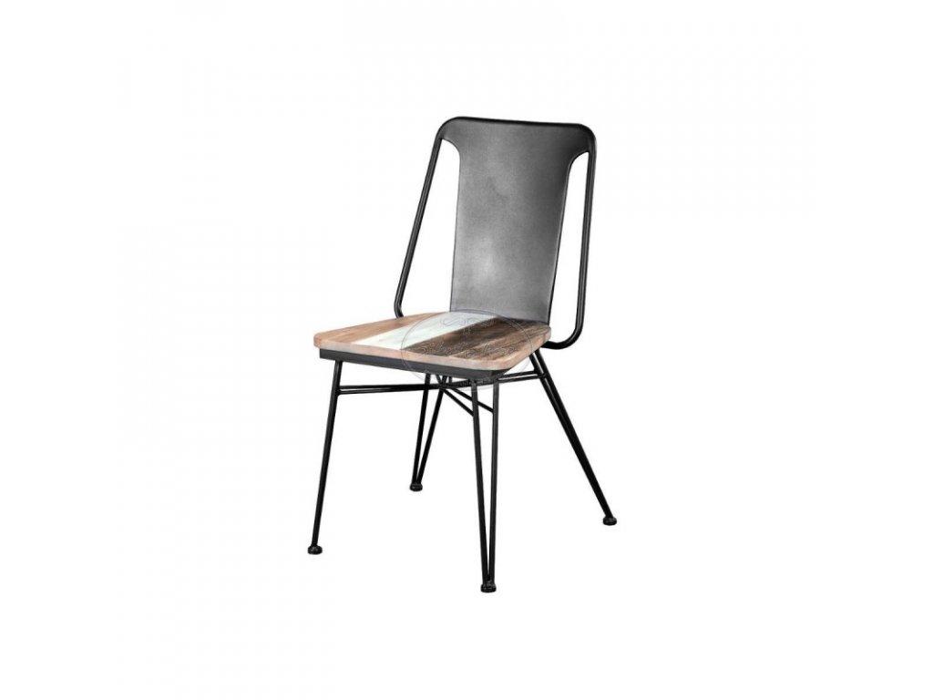 Plechová židle ADESSO D03A