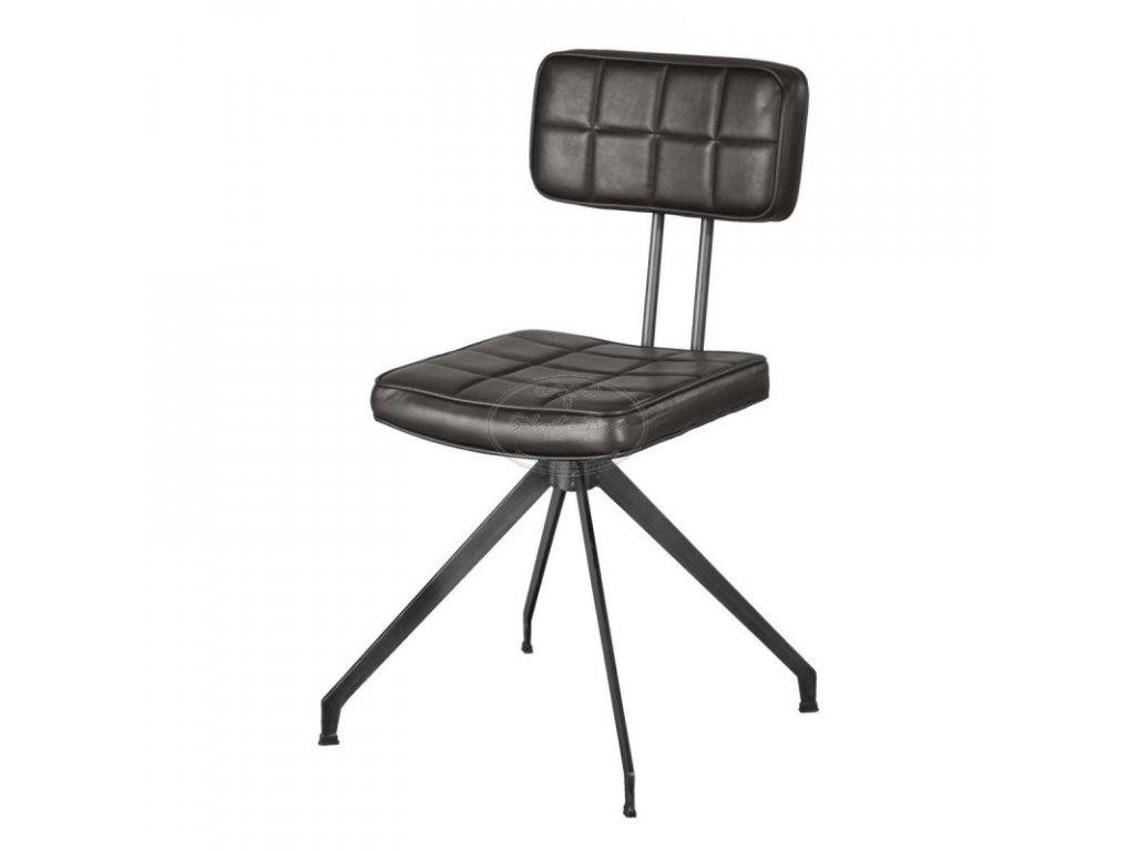 Kožená židle ASTHON D03