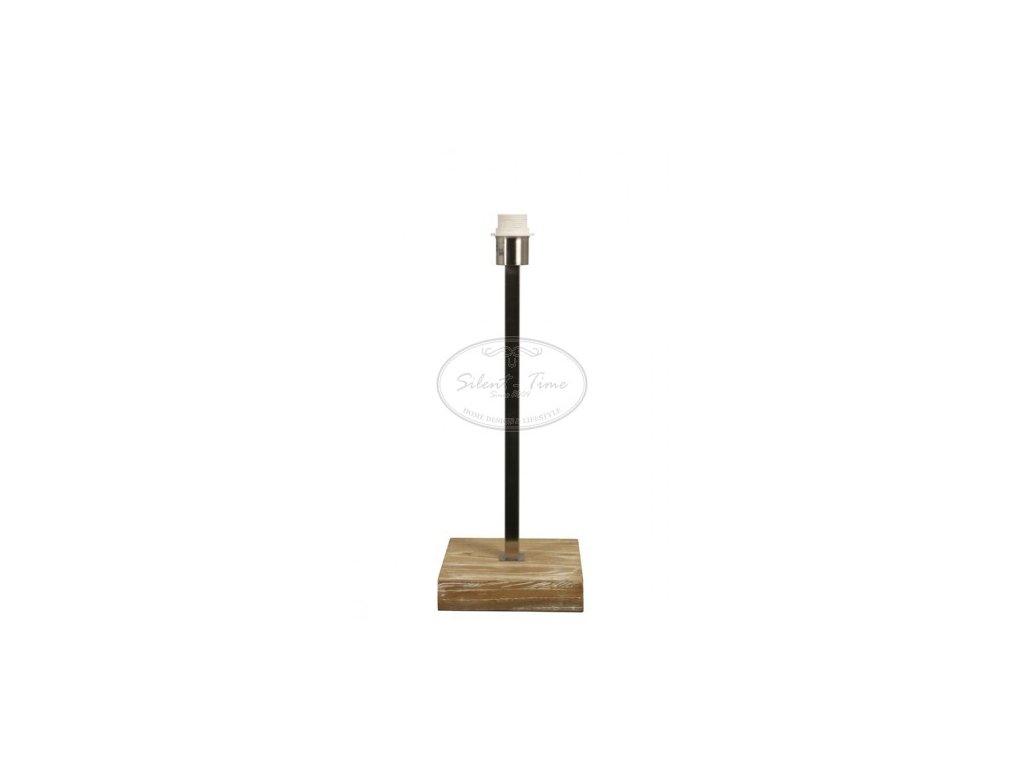 Stolní lampa kovová LEIPZIG NIC.SAT.-ELM WOOD