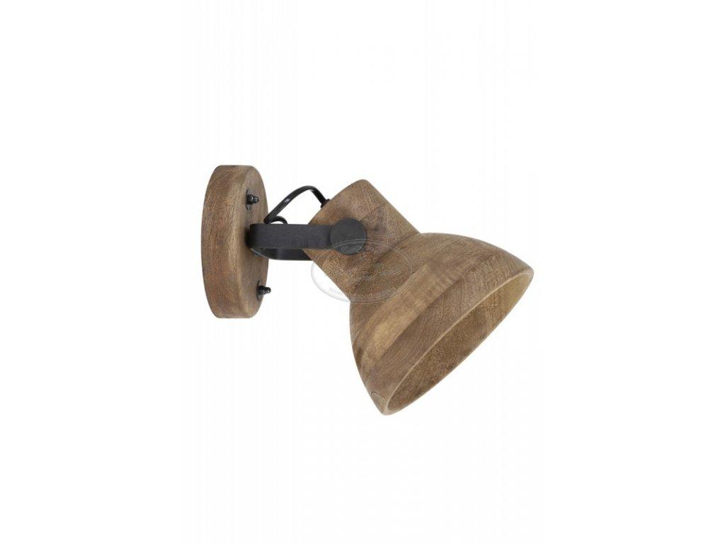 Nástěnná lampa dřevěná ILANIO 1