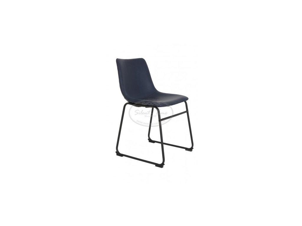 Židle koženka JEDDO BLUE