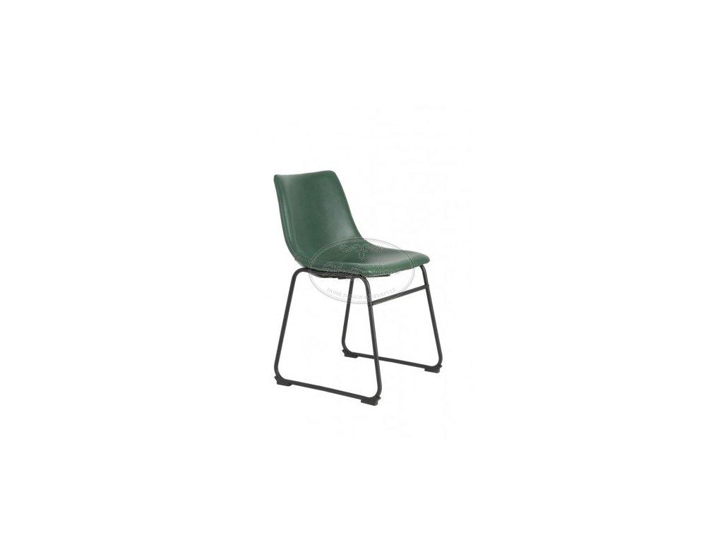 Židle koženka JEDDO GREEN