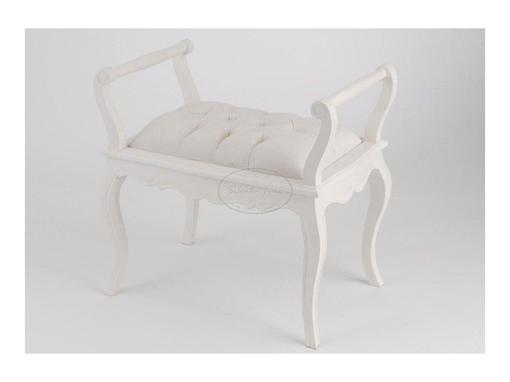 Lavička sofa MURANO WHITE
