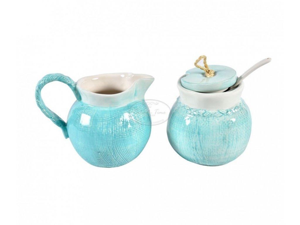 Cukřenka a mlékovka FIORE BLUE