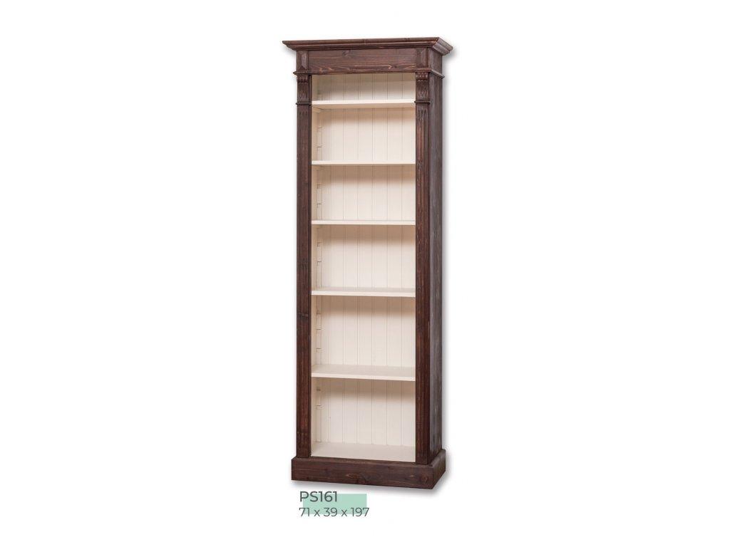 Dřevěná knihovna PS-161