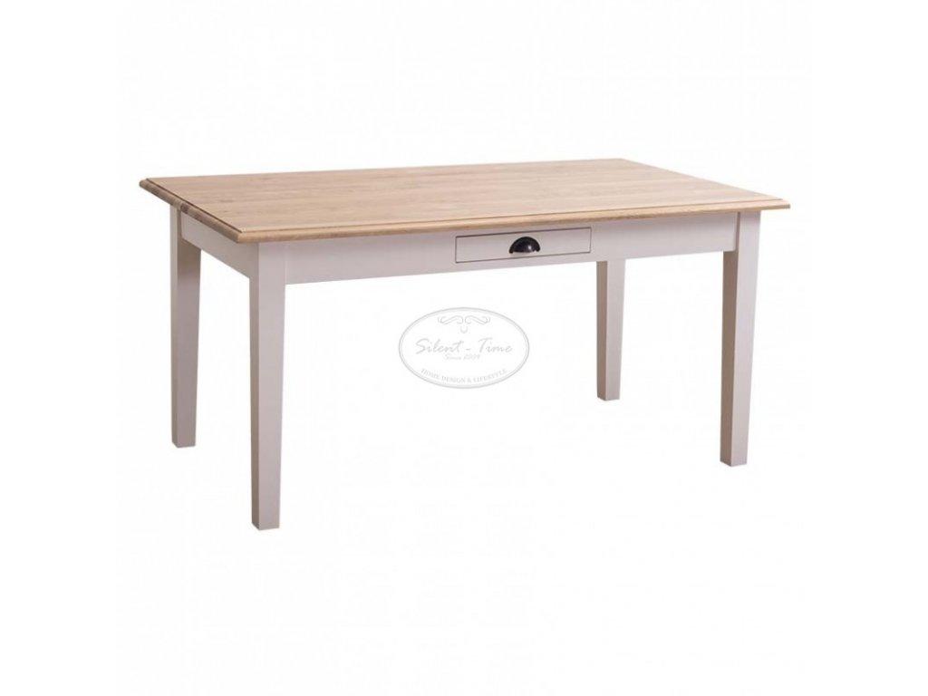 Dřevěný jídelní stůl se zásuvkou PS-22