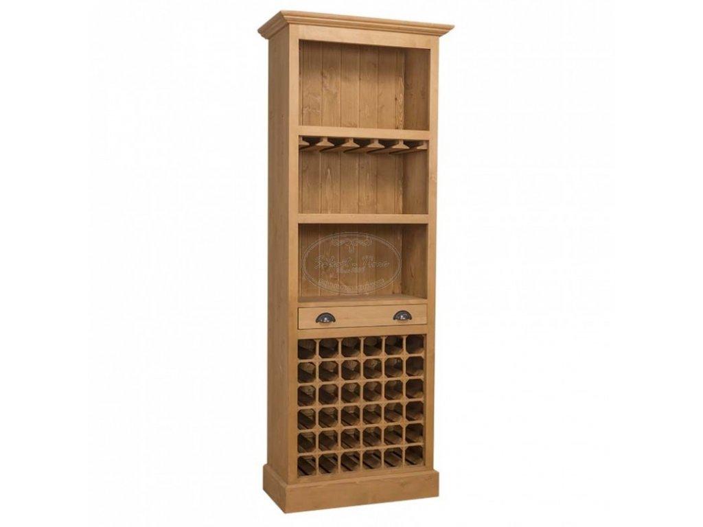 Dřevěná stylová vinotéka PS-262