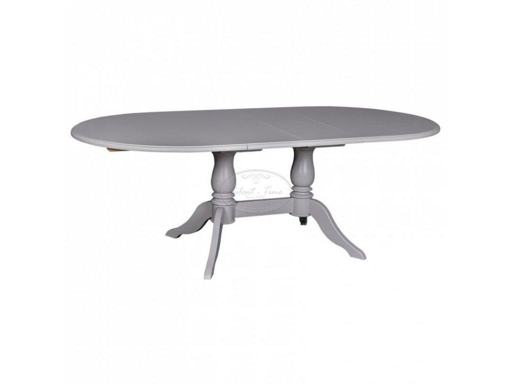 Dřevěný jídelní stůl rozkládací oválný PS-379