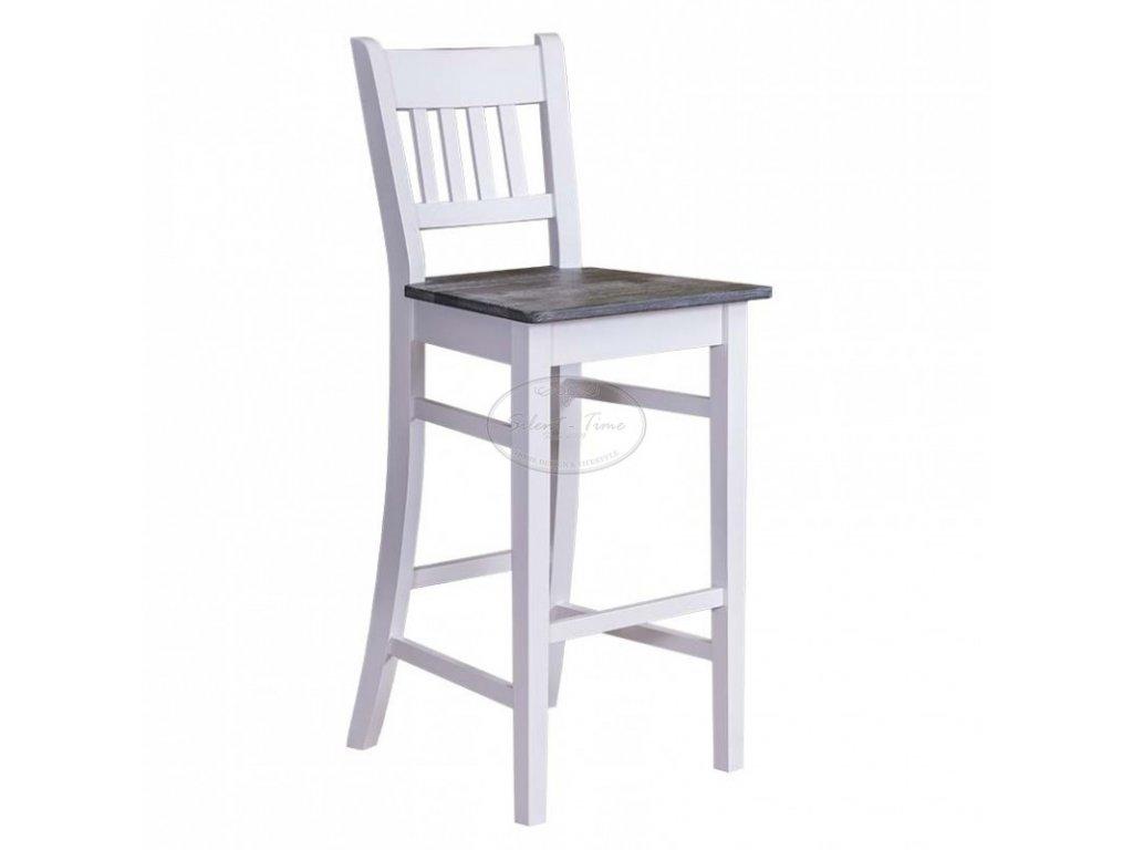 Židle barová dřevěná s opěrkou PS-380