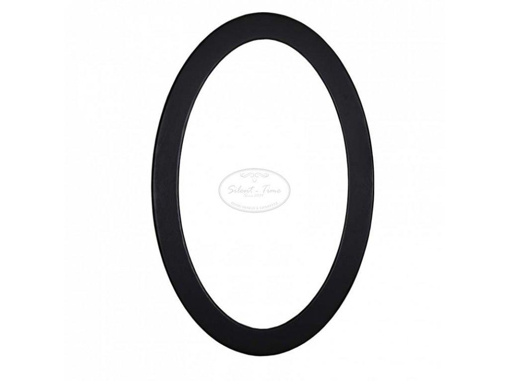 Oválné zrcadlo v dřevěném rámu PS-575