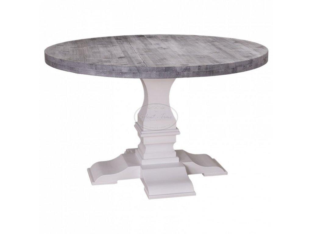 Dřevěný jídelní stůl kulatý RUSTIC PS-624
