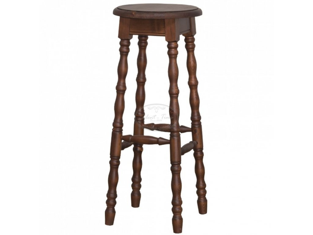 Židle barová dřevěná PS-655