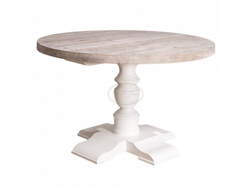 Dřevěný jídelní stůl kulatý ANTIC PS-676