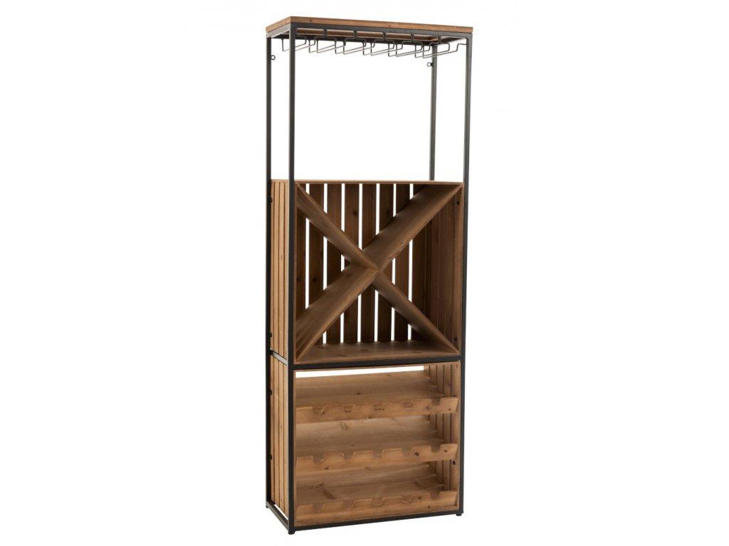 Dřevěný regál na víno IDER