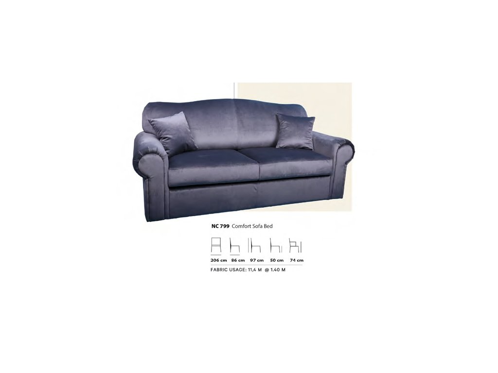 Rozkládací sedačka NC799