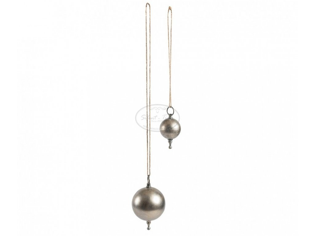 Ozdoba vánoční koule stříbrozlatá plná